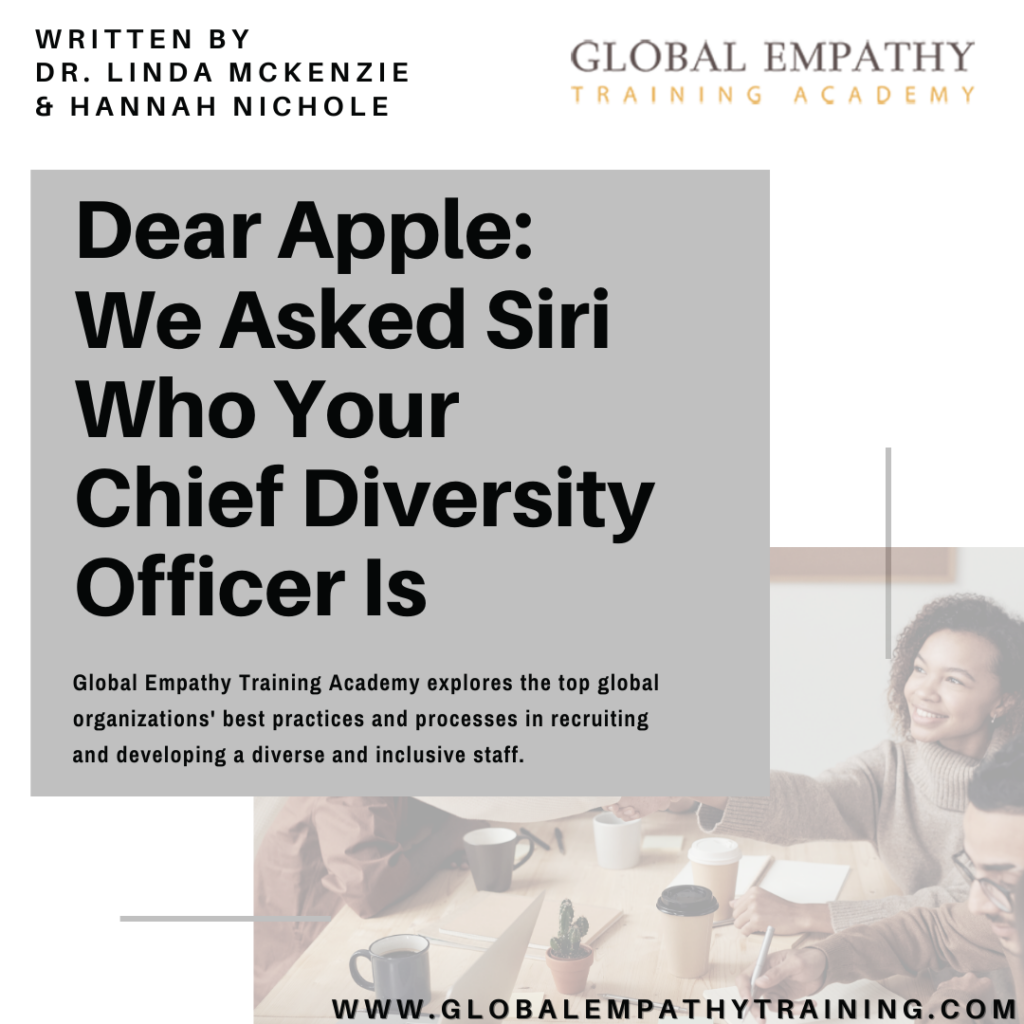 """""""Dear Apple: We asked Siri your Chief Diversity Officer is"""" blog cover"""
